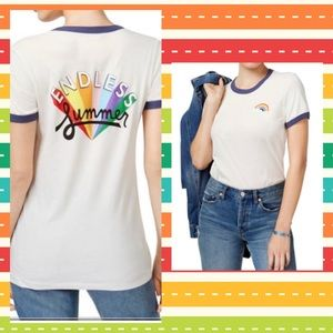 Ban.do Endless Summer Graphic Ringer Tee Rainbows